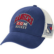 CCM Men's New York Rangers Royal Structured Adjustable Snapback Hat