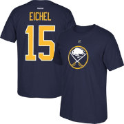 Reebok Men's Buffalo Sabres Jack Eichel #15 Replica Navy Player T-Shirt