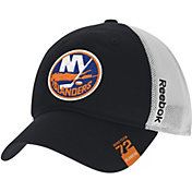 Reebok Men's New York Islanders Center Ice Slouch Black Flex Hat