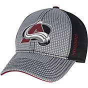Reebok Men's Colorado Avalanche Center Ice Two-Tone Grey/Black Structured Flex Hat