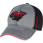Reebok Men's Minnesota Wild Center Ice Two-Tone Grey/Black Structured Flex Hat