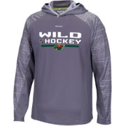 Reebok Men's Minnesota Wild Center Ice Locker Room TNT Training Grey Hoodie