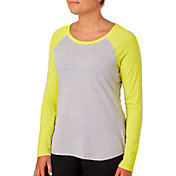 Reebok Women's Plus Size Baseball Long Sleeve Shirt