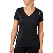 Reebok Women's Plus Size Solid Performance V-Neck T-Shirt