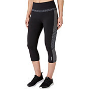 Reebok Women's Solid Pieced Stretch Cotton Capris