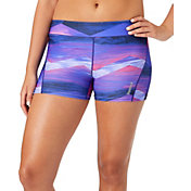 "Reebok Women's 3"" Printed Compression Shorts"