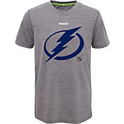 Reebok Youth Tampa Bay Lightning Center Ice TNT Grey Performance T-Shirt