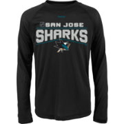 Reebok Youth San Jose Sharks Center Ice TNT Grey Performance Long Sleeve T-Shirt