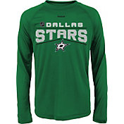 Reebok Youth Dallas Stars Center Ice TNT Green Performance Long Sleeve T-Shirt