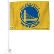 Rico Golden State Warriors Yellow Car Flag