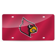 Rico Louisville Cardinals Red Laser Tag License Plate