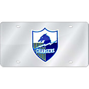 Rico San Diego Chargers Silver Retro Laser Tag License Plate