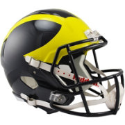 Riddell Michigan Wolverines Speed Replica Full-Size Football Helmet