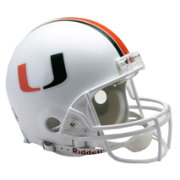 Riddell Miami Hurricanes Authentic Collection Full-Size Football Helmet