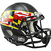 Riddell Maryland Terrapins Revolution Speed Flag Logo Full-Size Football Black Helmet