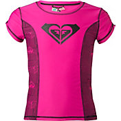 Roxy Girls' Retro Sport Short Sleeve Rash Guard