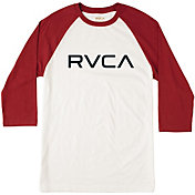 RVCA Men's Big RVCA 3/4 Sleeve Raglan T-Shirt