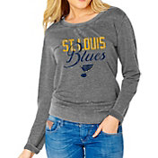 Soft As A Grape Women's St. Louis Blues Grey Fleece Sweatshirt