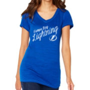Soft As A Grape Women's Tampa Bay Lightning Blue V-Neck T-Shirt