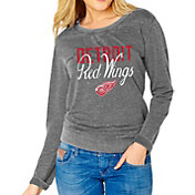 Soft As A Grape Women's Detroit Red Wings Grey Fleece Sweatshirt