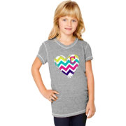 Soft As A Grape Youth Girls' Cleveland Indians Tri-Blend Grey V-Neck T-Shirt