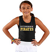 Soft As A Grape Youth Girls' Pittsburgh Pirates Black Tank Top