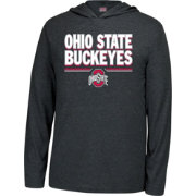 Scarlet & Gray Men's Ohio State Buckeyes One and Only Black Hoodie Long Sleeve Shirt