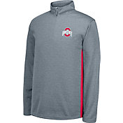 Scarlet & Gray Men's Ohio State Buckeyes Gray First Down Quarter-Zip Shirt
