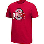 Scarlet & Gray Men's Ohio State Buckeyes Scarlet Staple T-Shirt