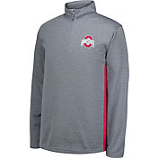 Scarlet & Gray Youth Ohio State Buckeyes Gray First Down Quarter-Zip Shirt