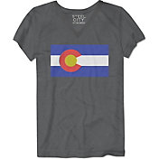 Steel City Cotton Works Women's Basic Flag Colorado T-Shirt