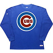 Stitches Men's Chicago Cubs Thermal Royal Long Sleeve Fleece