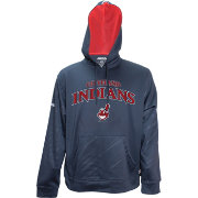 Stitches Men's Cleveland Indians Pullover Navy Hoodie