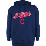 Stitches Men's Cleveland Indians Navy Pullover Hoodie