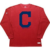 Stitches Men's Cleveland Indians Thermal Red Long Sleeve Fleece
