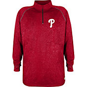Stitches Men's Philadelphia Phillies Red Quarter-Zip Pullover Fleece