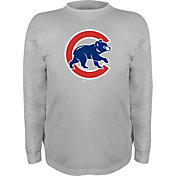 Stitches Youth Chicago Cubs Grey Long Sleeve Shirt