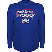 Stitches Youth 2016 World Series Champions Chicago Cubs Royal Long Sleeve Shirt