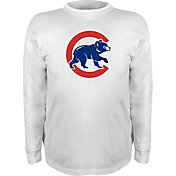 Stitches Youth Chicago Cubs White/Royal Long Sleeve Shirt