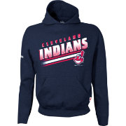 Stitches Youth Cleveland Indians Navy Pullover Hoodie
