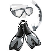 Speedo Adult Adventure Mask, Snorkel & Fin Set