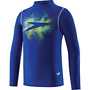 Speedo Boys' Galaxy Boom Long Sleeve Rash Guard