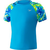 Speedo Girls' Printed Sleeve Rashguard