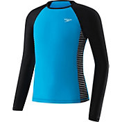 Speedo Girls' Raglan Long Sleeve Rashguard