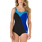 Speedo Women's Color Block Comfort Strap Swimsuit