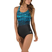 Speedo Women's Diamond Ombre Ultraback Swimsuit