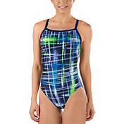 Speedo Women's Lazer Sticks Fly Back Swimsuit