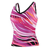 Speedo Women's Moving Current Endurance+ Comfort Strap Tankini Top