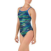 Speedo Women's Fragments Drill Back Swimsuit
