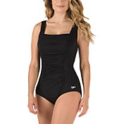 Speedo Women's Shirred Tank Swimsuit